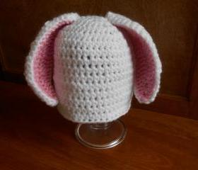 Bunny Rabbit Infant Hat or American Girl-type doll hat (size 0-3 months, 3-6 months, or 6-12 months)