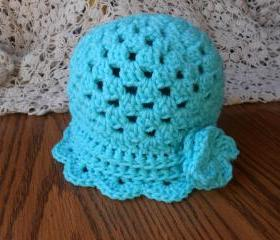 The Ruffle Shell Hat (Size Toddler, Child, or Adult)