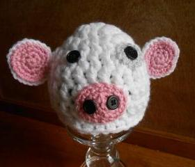 Lamb Infant Hat or American Girl-type doll hat (size 0-3 months, 3-6 months, or 6-12 months)