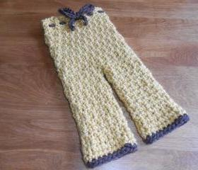 Crocheted Infant Pants - size 0-2 months, 3-6 months, 6-12 months, or 1-2 years - many colors available